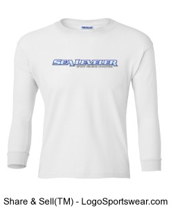 Boys (Youth) White Long Sleeve T- Shirt (Sea Leveler Sport Fishing Charters) Design Zoom